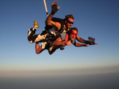 Tandem parachuting in Gran Canaria