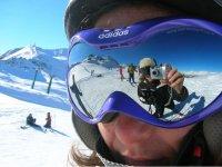 在滑雪课程