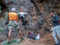 Primeros pasos en la escalada en roca