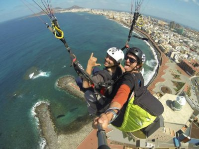 Vuelo en parapente tándem en Gran Canaria