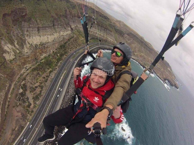 串联滑翔伞飞行滑翔伞飞行员加那利