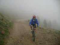 Mountain bike in the natural park of Cardi Moixero
