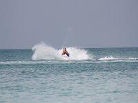 达到最大水速喷气式滑雪