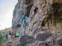 控制并行登山者的登山者上升