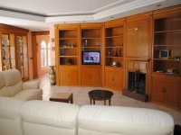Salon of the house with TV monitor