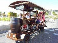 Grupo mixto en la bici loca