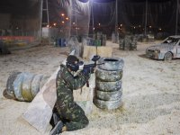 Paintball at night