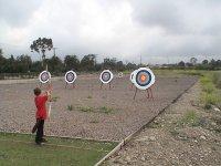 学习练习射箭