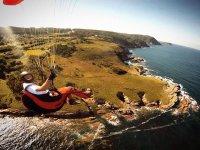 La costa di Ribadeo dal cielo