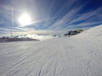 Pistas en la estacion de esqui