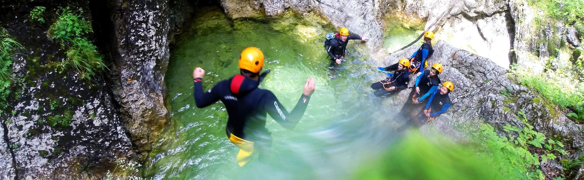 Canyoning in San Salvador (Medio Cudeyo)