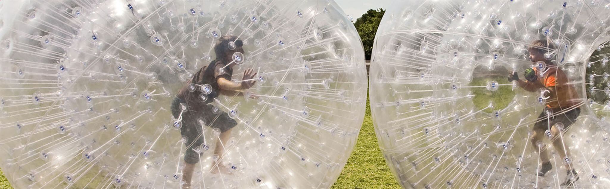 Zorbing in Madrid
