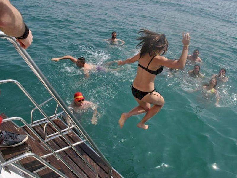 Se baigner en haute mer