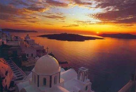 Atardecer de las islas griegas