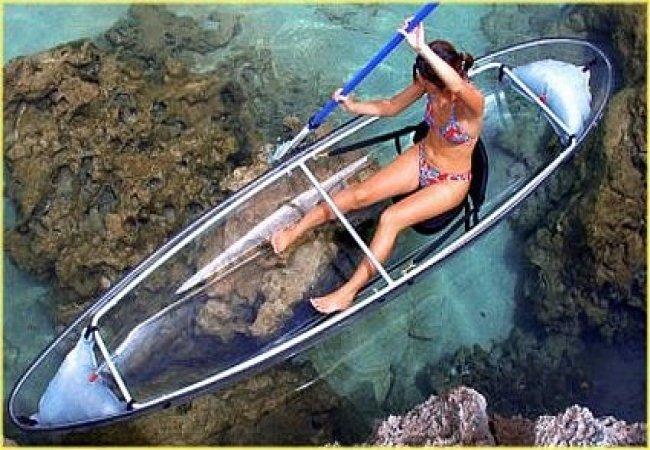 Kayak transparente