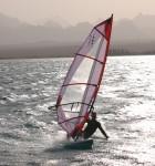 Windsurf con una puesta de sol