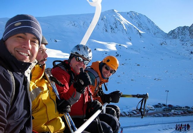 Esquiando en pas