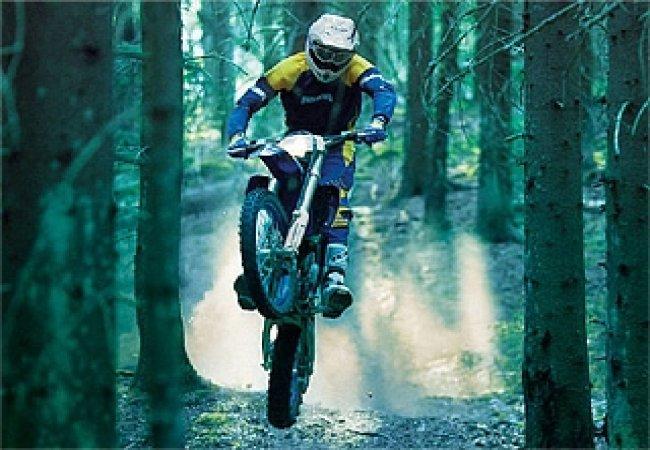 Caballito con la moto